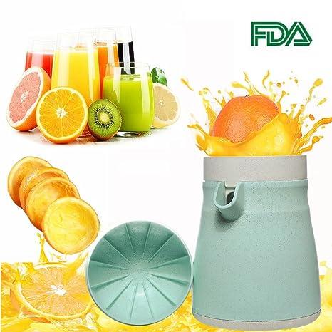 Exprimidor manual de limón, 2 en 1, sin BPA, para frutas, color