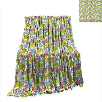 2faff0676c609 Amazon.com: Elephant Lightweight Blanket Asian Animals with Ornate ...