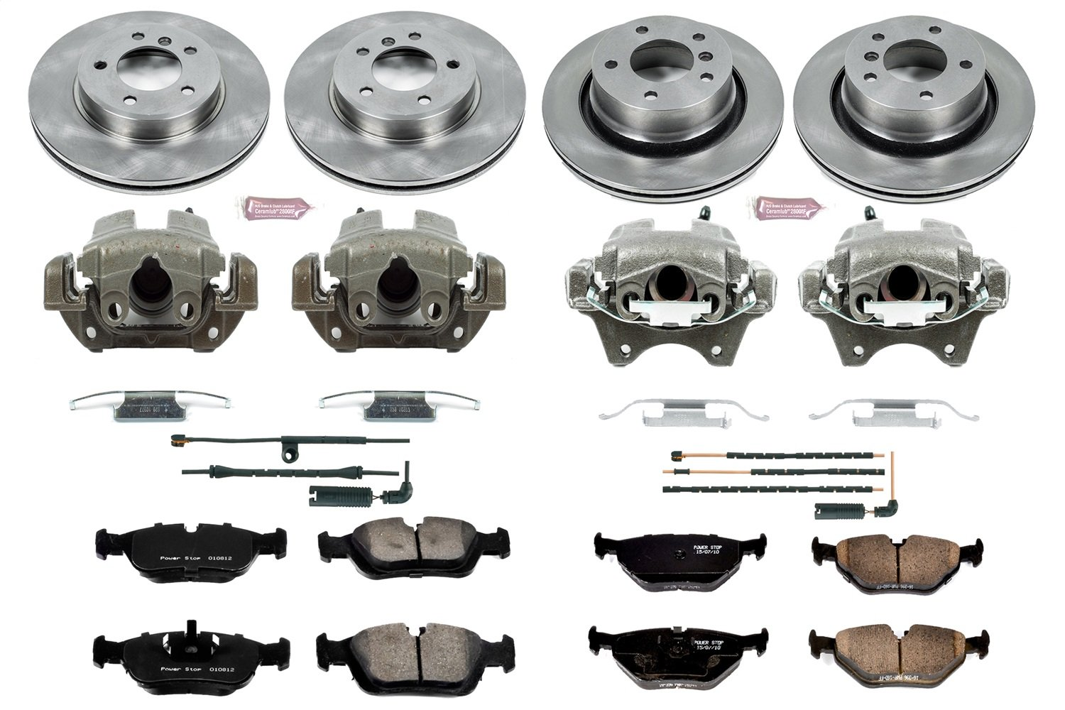 Power Stop KCOE873 Autospecialty 1-Click OE Replacement Brake Kit with Calipers