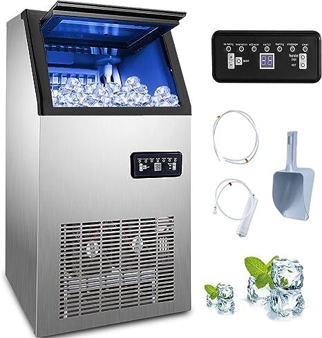 BuoQua 12kg Eiswrfelmaschine mit LCD Anzeige Eiswrfelbereiter ...