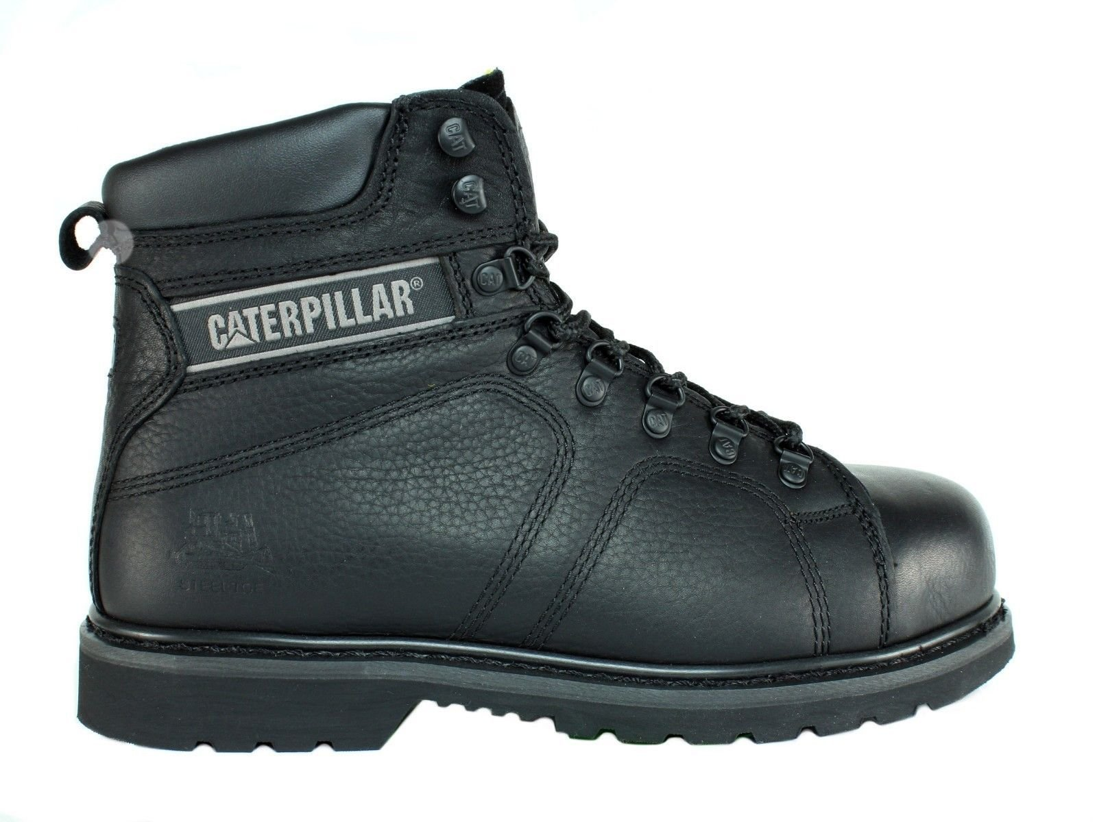 Caterpillar SureGrip Mens Silverton SG Black Slip Resistant Work Boots 12M by Caterpillar (Image #2)