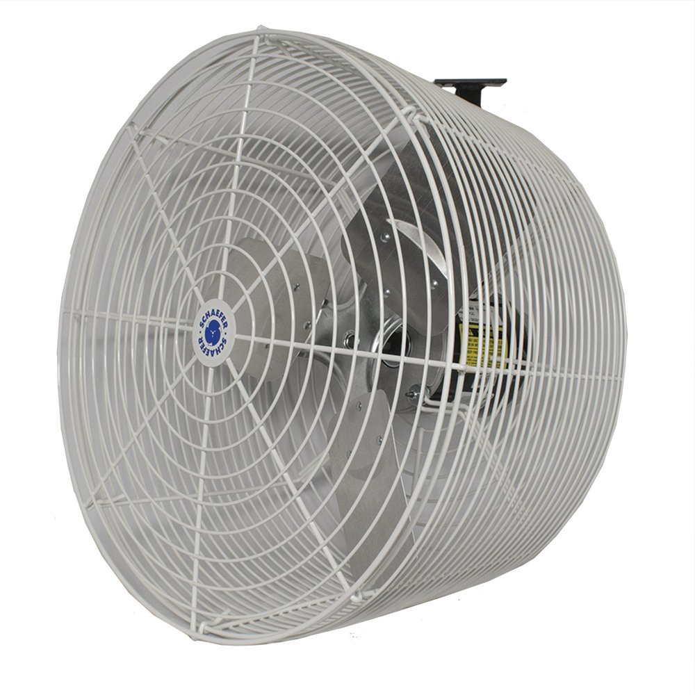 Schaefer - VK12-GA 12'' Versa-Kool Circulation Fan, Cord, Mount, Galvanized , Blade Material: Aluminum , Horse Power 1/10