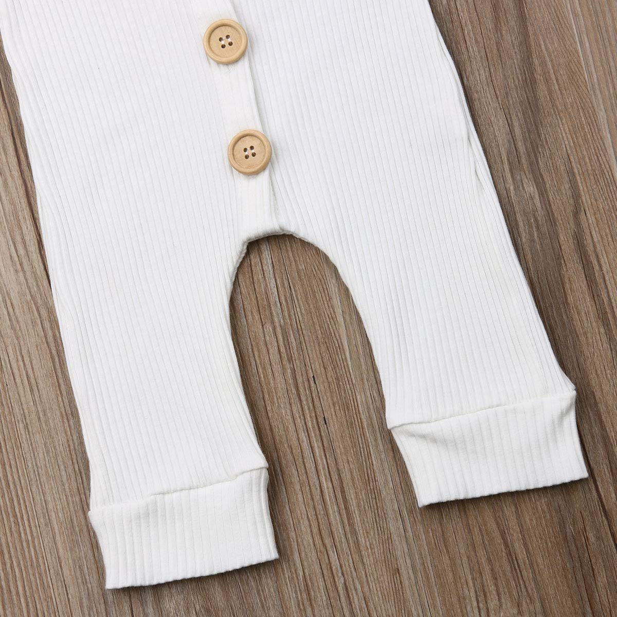 White, 100 niceclould Infant Baby Girl Boy Solid Cotton Outfit Romper Jumpsuit Toddler Knitting Sleeveless Button Bodysuit Summer Clothes 0-18M