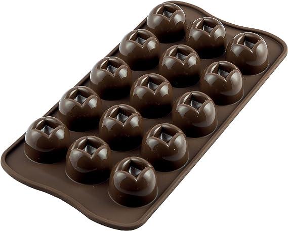 Image ofSCG03 Molde de Silicona para chocolatines Imperial, Color marrón
