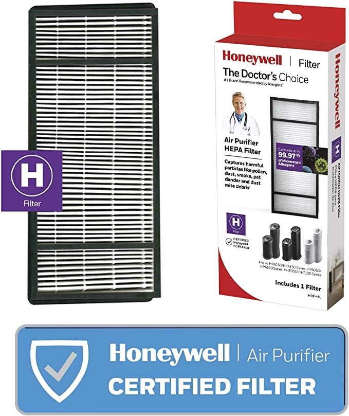 HASMX 2-Pack Replacement HEPA Carbon Filter for Honeywell and Vicks Part # HRF-B1 HRF-B2 Replaces Air Cleaner Models HHT-080 HHT-090 HHT-100 HHT-1500 HPA-050 HHT-145 HHT-149 HHT-013 Vicks V9070 V9071