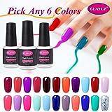 Clavuz Soak Off UV Gel Nail Polish Starter Kit, Pick Any 6 Colors