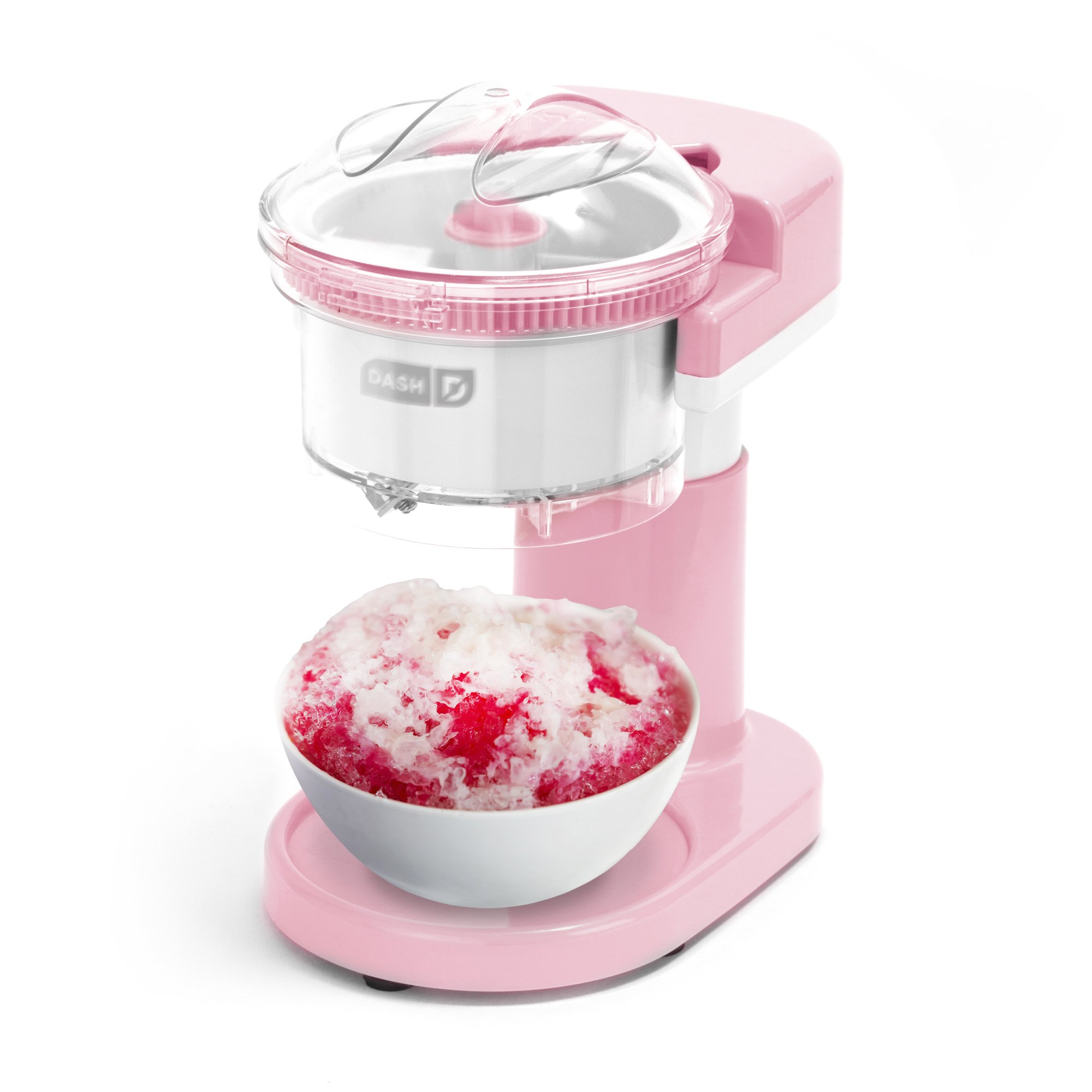 DASH DSIM100GBPK02 Shaved Ice Maker Perfectly Snow Cones in Minutes Regular Sized Cubes, Easy to Use, Pink