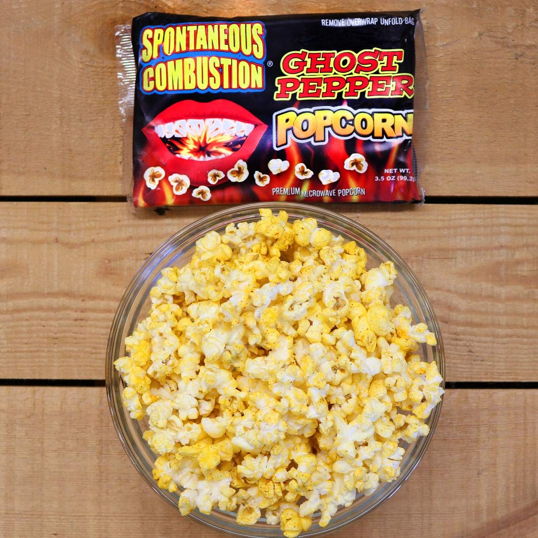 Spontaneous Combustion Ghost Pepper Microwave Popcorn - 1 Pack - Ultimate  Spicy
