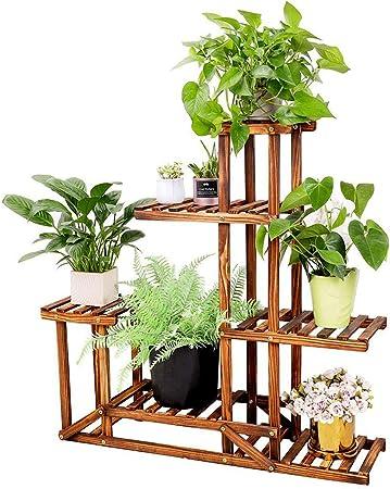 Black Wall Hanging Flower Planter Pot Shelf Garden Plant Stand Rack Holder L