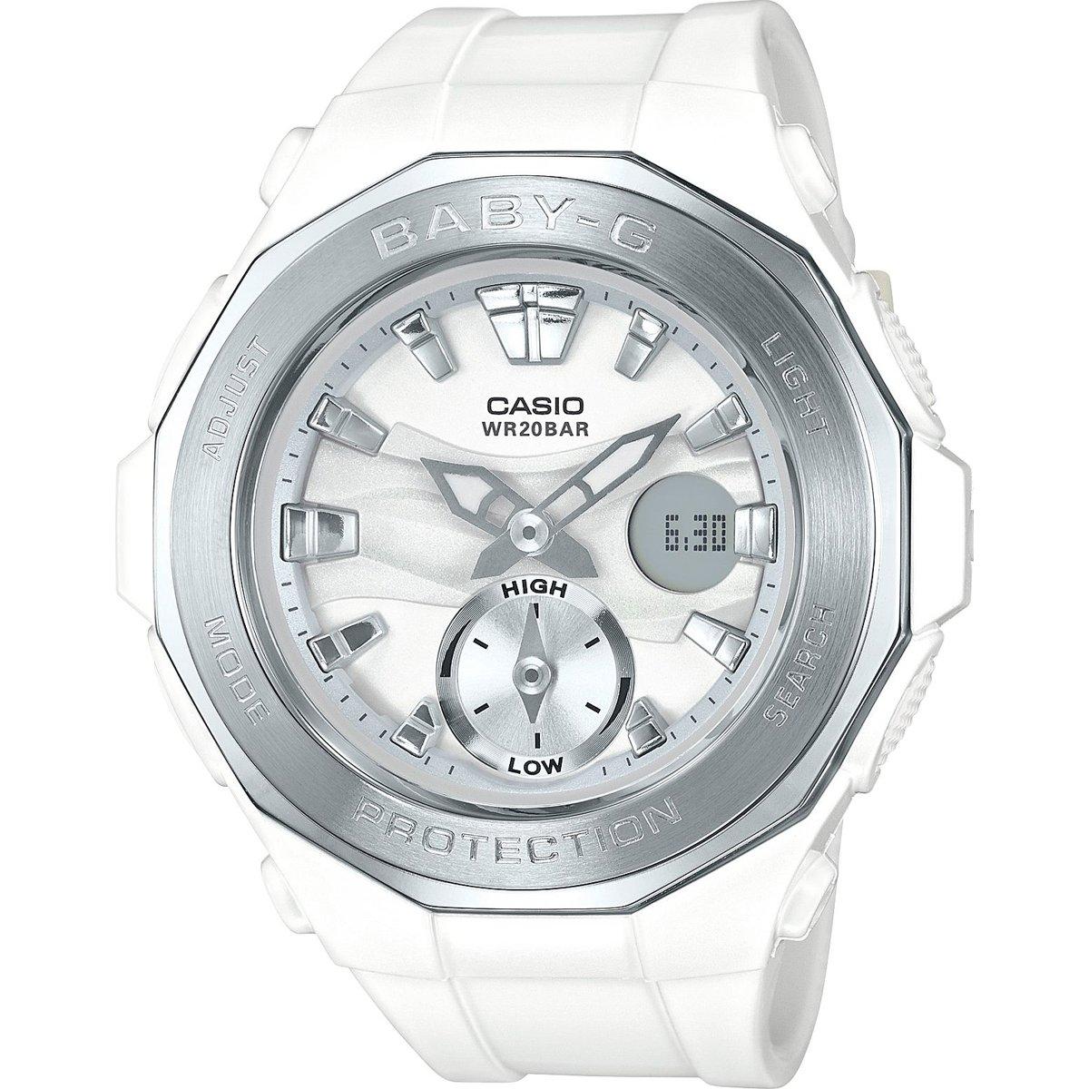 G-Shock BGA-220-7A Wht/Silver Silver Bezel - White Silver / One Size