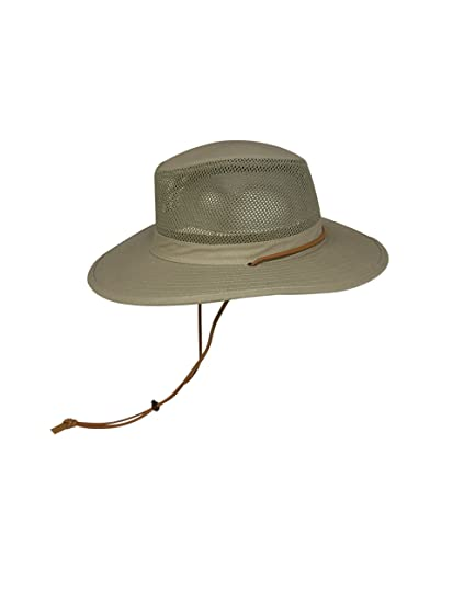 18247b106d5 Elysiumland Unisex Safari Sun Bucket Hat with A Montana Crease and Breathable  Mesh Crown - Dawstring