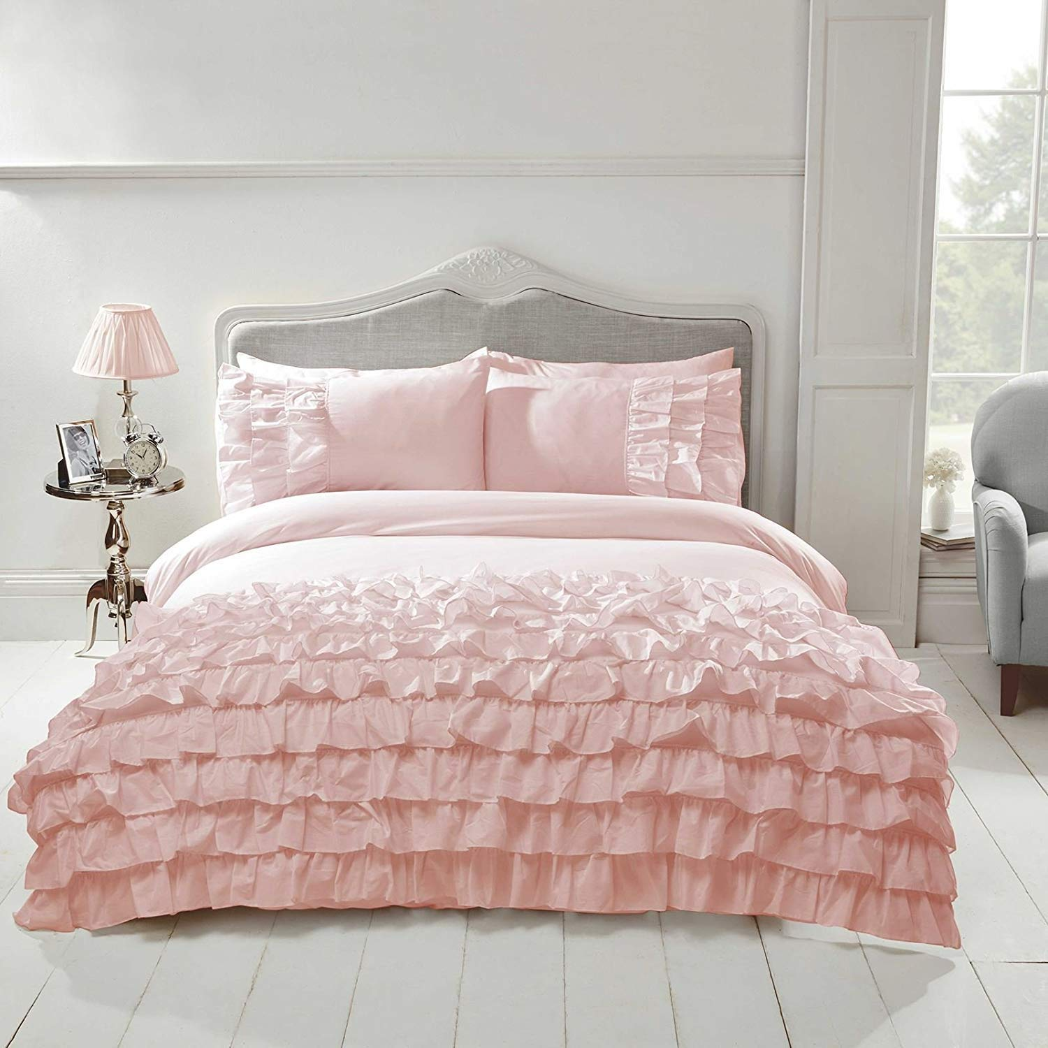 Flamenco Duvet Cover, Blush Pink, King 52% Polyester 48% Cotton