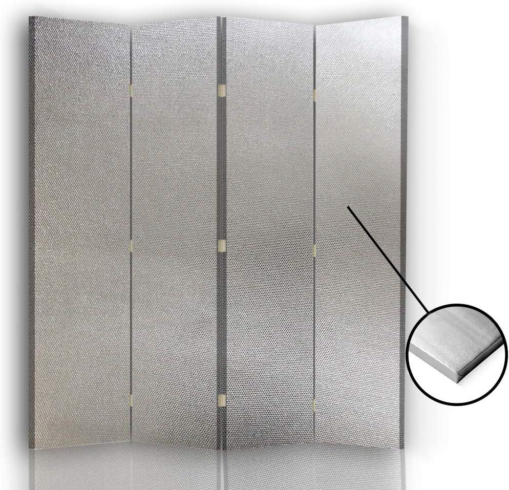 F FEEBY WALL DECOR Foto Biombo Lienzo 4 Paneles Unilateral Plata 145x175 cm: Amazon.es: Hogar