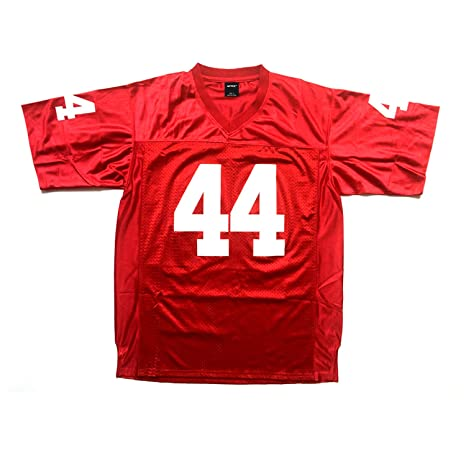 da7ac6d79 AIFFEE Men s  44 Gump Football Jersey Red Color Stitched Number N Letters Size  S -