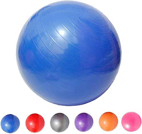 Saymequeen Anti-Burst Exercise Ball with Foot Pump for Adults Kids Balance Workout Fitness Yoga Ball 45cm 55cm 65cm 75cm