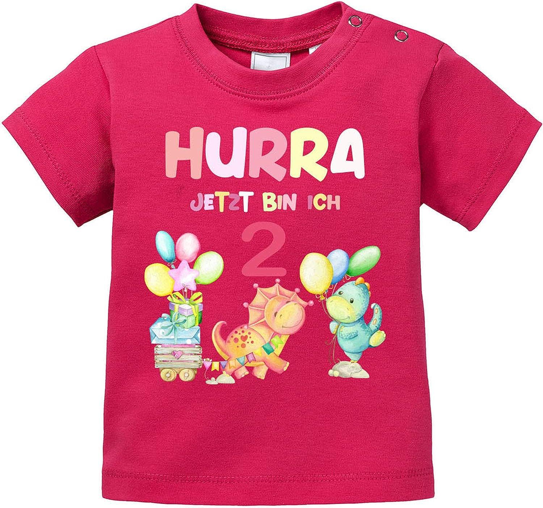 EZYshirt/® Hurra ich Bin 2 f/ür M/ädchen T-Shirt Baby Bio Baumwolle