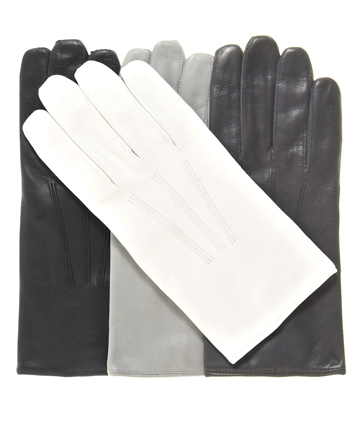 Edwardian Men's Accessories Mens Lined Lambskin Leather Gloves with Wrist Snap $99.95 AT vintagedancer.com
