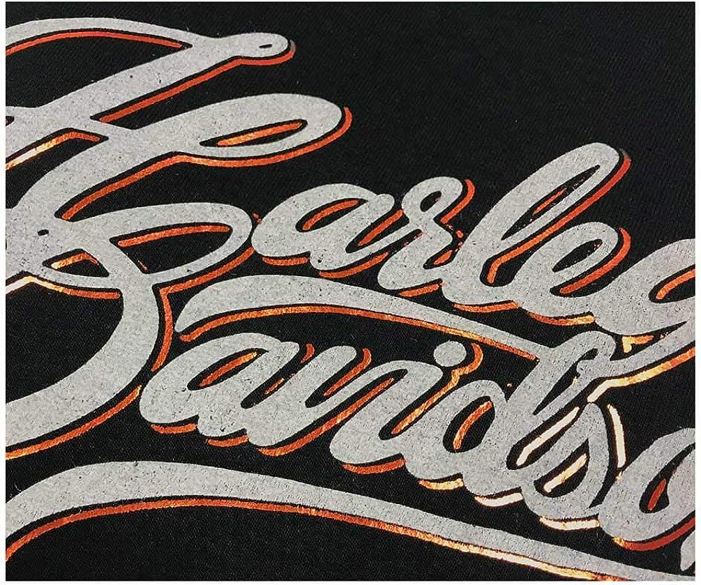 Black Harley-Davidson Womens Metallic Foil H-D Pullover Poly-Blend Hoodie