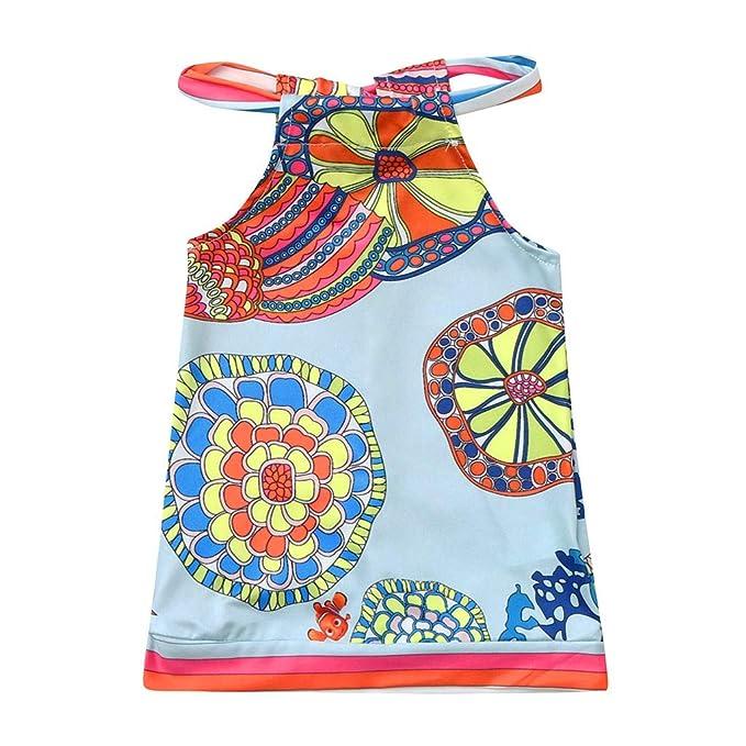 Berimaterry Vestido de niña Vestido para Bebés Ropa Impresa de ...