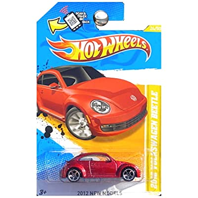 Hot Wheels 2012 New Models 2012 Volkswagen VW Beetle Bug Red Metallic: Toys & Games
