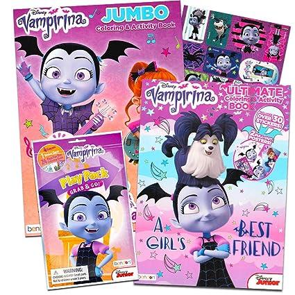 Amazon Com Disney Vampirina Coloring Book Super Set 2 Coloring