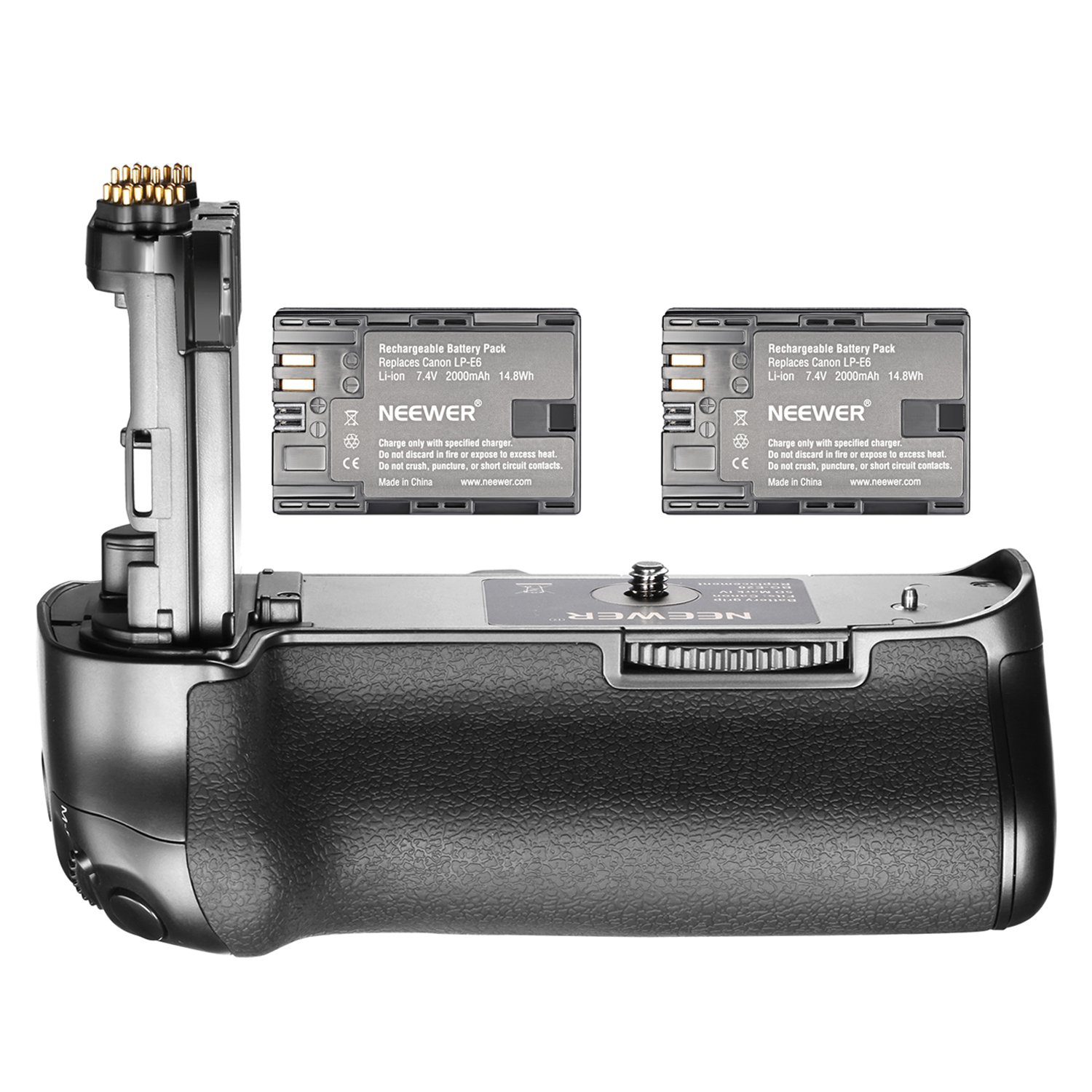 Neewer NW-5D Mark IV Replacement Canon BG-E20 Battery Grip with 2 Pack Rechargeable 7.4V 2000mAh LP-E6 Batteries, Suitable for Canon EOS 5D Mark IV DSLR Camera Body by Neewer
