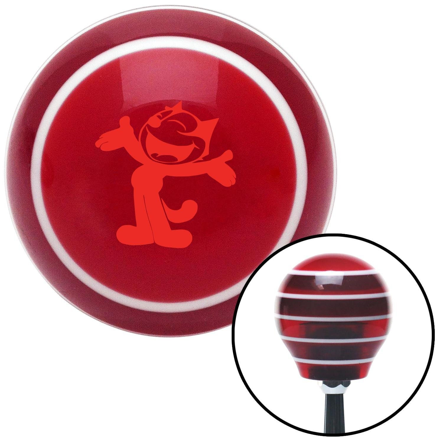 American Shifter 116591 Red Stripe Shift Knob with M16 x 1.5 Insert Red Felix The Cat Classic