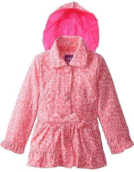 De color rosa ropa de descanso para niñas Platinum Little diseño de estampado de leopardo