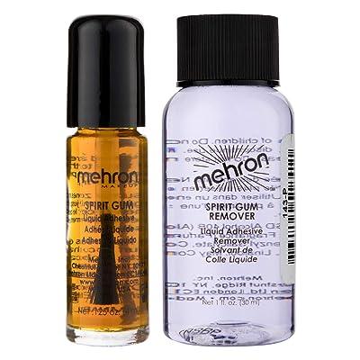 Mehron Makeup Spirit Gum and Spirit Gum Remover Combo set (.125 oz) : Makeup Sets : Beauty
