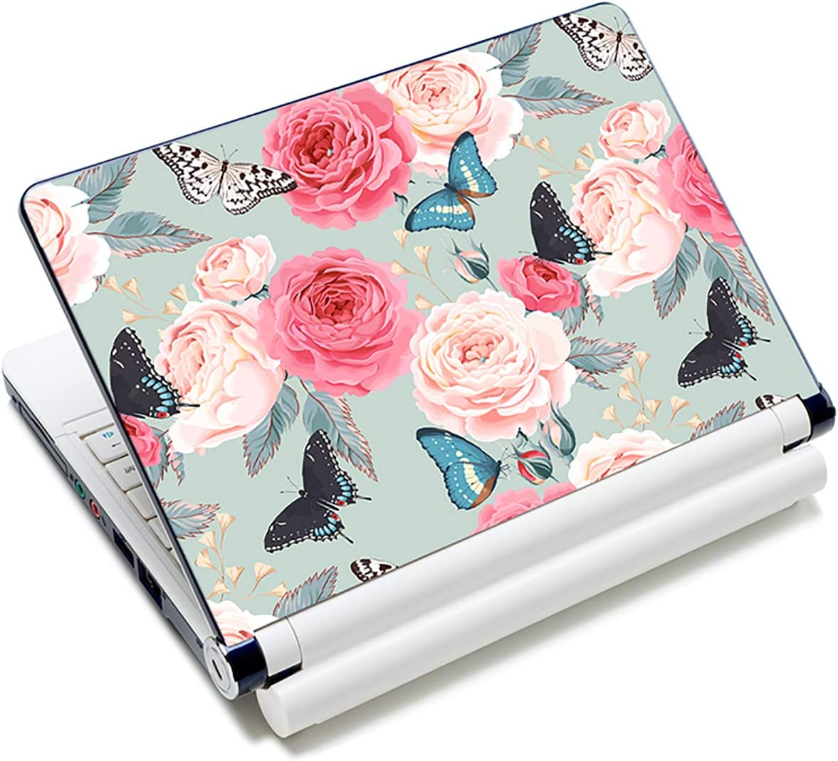 Laptop Stickers Decal,12 13 14 15 15.6 inches Netbook Laptop Skin Sticker Reusable Protector Cover Case for Toshiba Hp Samsung Dell Apple Acer Leonovo Sony Asus Laptop Notebook (Nice Peony Flower)