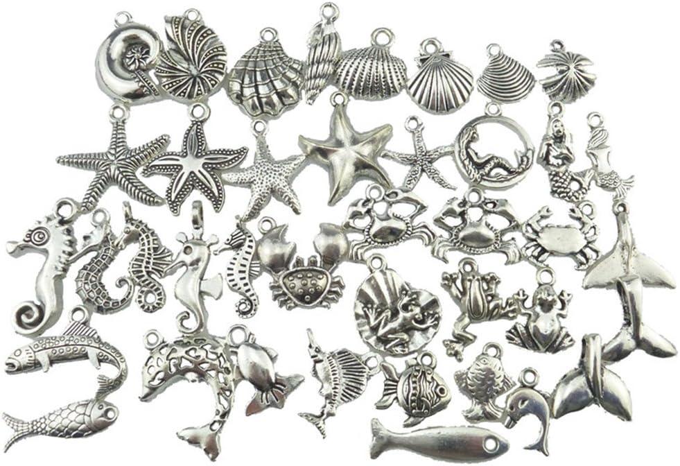 PandaHall 90pcs tibetische Art-Legierungs-Anh/änger antikes Silber Mischformen
