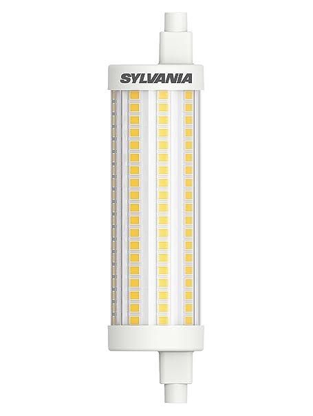 Sylvania LED-R7s Stablampe Ersatz, 118mm, 2000lm, 15W, Lichtfarbe 827 = 2700K, warmweiss, dimmbar