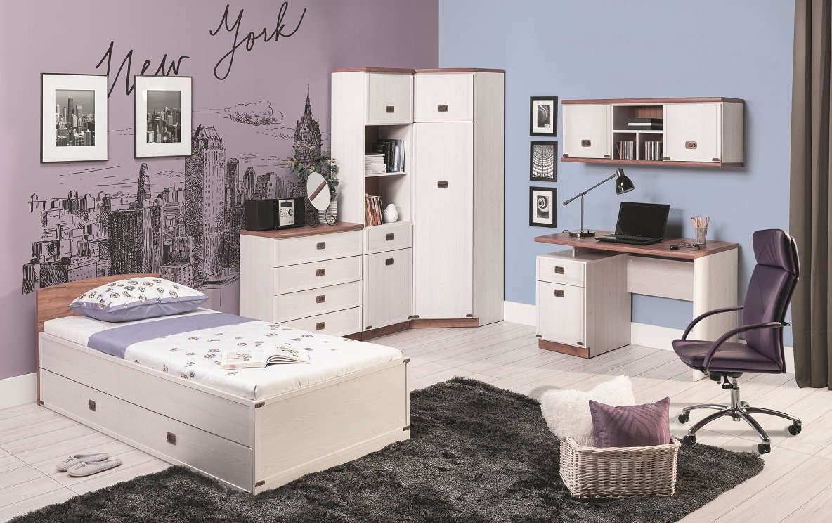 jugendzimmer kinderzimmer marley komplett 7 tlg set b eckschrank kommode regal schreibtisch bett. Black Bedroom Furniture Sets. Home Design Ideas
