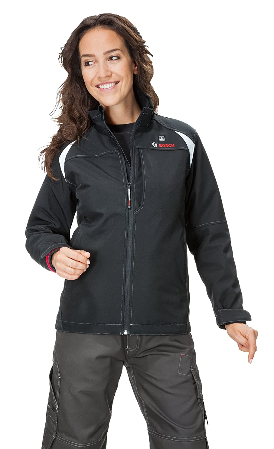 Bosch PSJ120-102 womens 12-volt Max Lithium-Ion Soft Shell Heated Jacket Kit with 2.0Ah Battery Charger and Holster