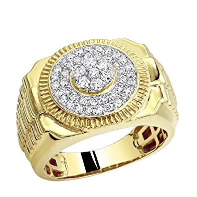 diamond eternity yellow unique mens bands ring mm vintage gold wedding carat handmade band