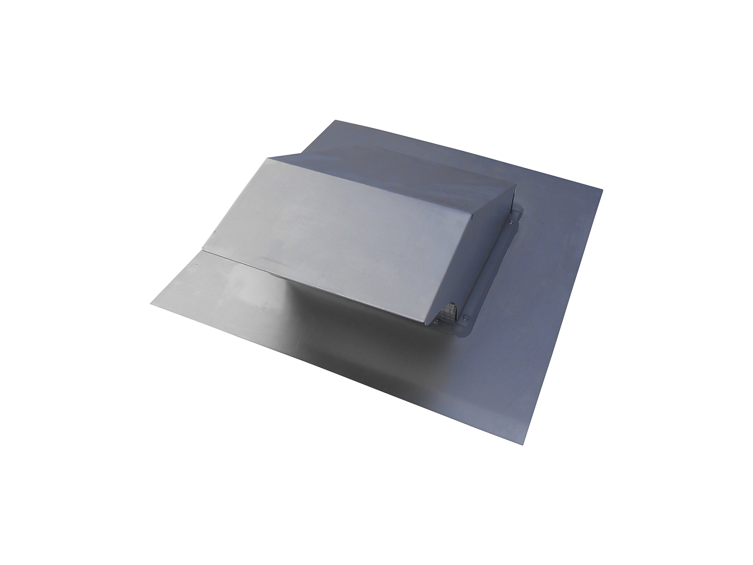 5 Inch Roof Vent Hood Cap Galvanized Damper & Screen - Vent Works by Vent Works (Image #4)
