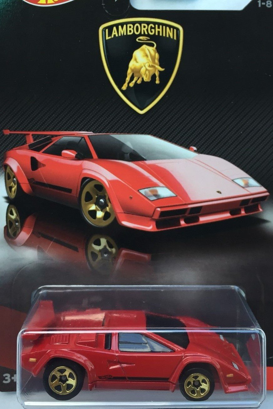 Hot Wheels 2017 Lamborghini Series Replacement for Lamborghini Countach 1 8 Red