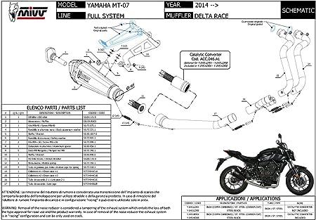 Y 045 Ldrx Komplette Auspuffanlage Mivv Delta Race Edelstahl Hoch Fur Mt 07 2018 18 Auto