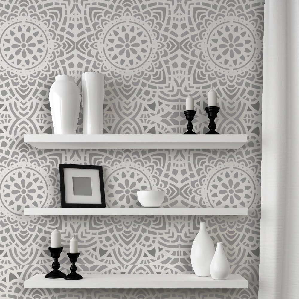 J boutique stencils zelij moroccan wall stencils reusable template j boutique stencils wall lace decorative stencil madalyn allover reusable for diy wall decor amipublicfo Image collections