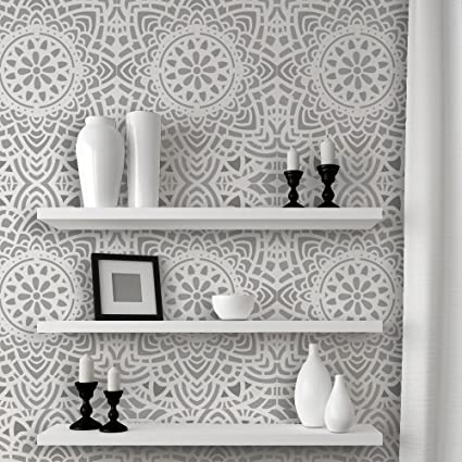 Amazon.com: J BOUTIQUE STENCILS Wall Lace Decorative Stencil Madalyn ...