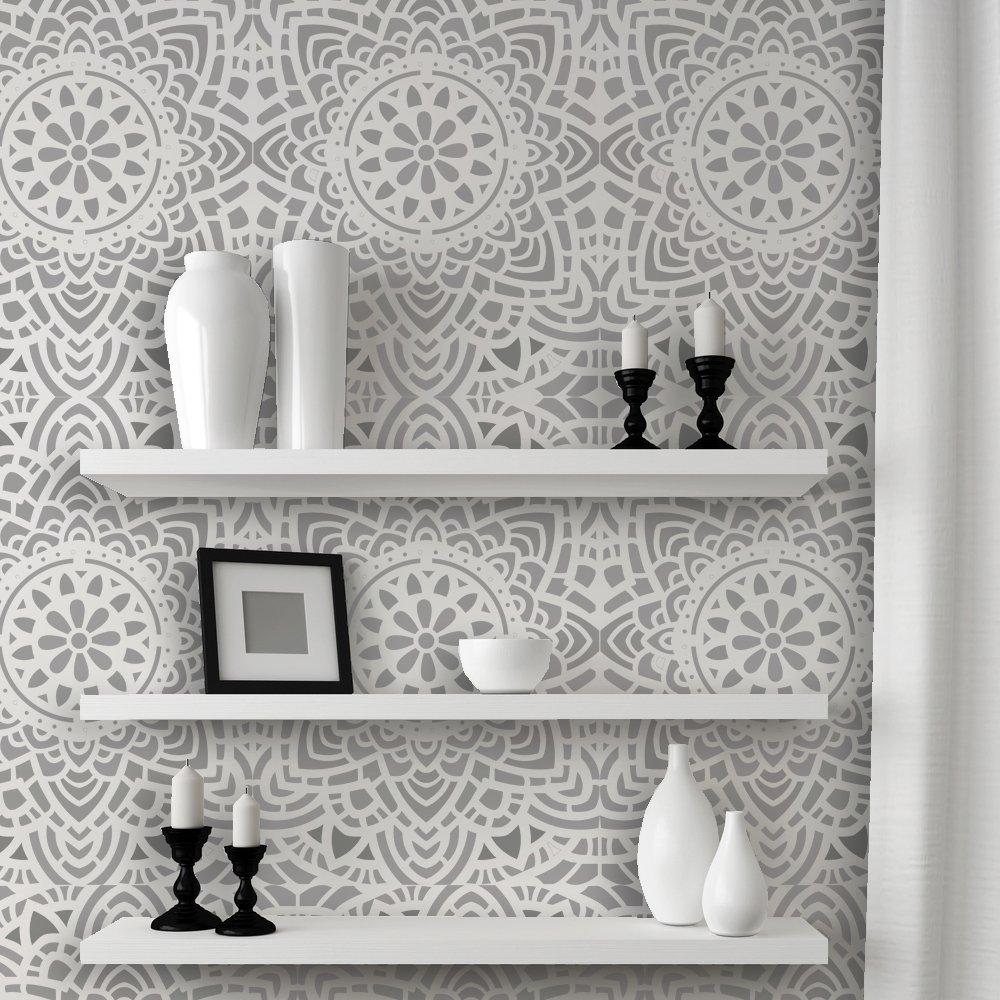 J BOUTIQUE STENCILS Wall Lace Decorative Stencil Madalyn Allover Reusable for DIY Wall Decor by J BOUTIQUE STENCILS