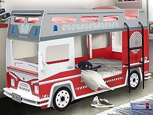 Etagenbett Bussy Bewertung : Hochbett etagenbett fantasy bus amazon küche haushalt