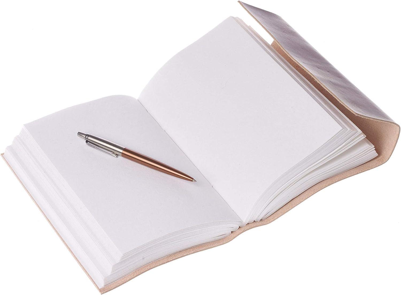 24 cm x 14,5 cm alternativa per uomini e donne XX grande diario in pelle cucita 150 pagine in carta riciclata sfoderata commercio equo e solidale ed ecologico in pelle fatto a mano
