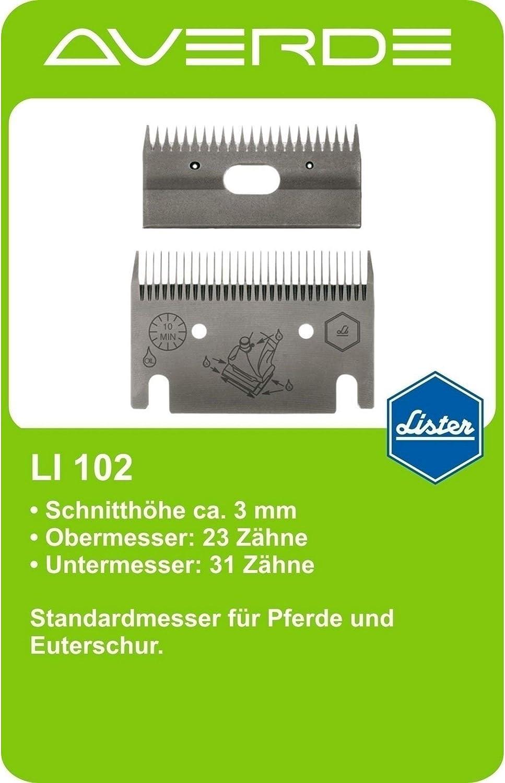 Lister Pferdeschermaschine CUTLI im SET GRATIS 10mm Aufsteck-Kamm180Watt AC