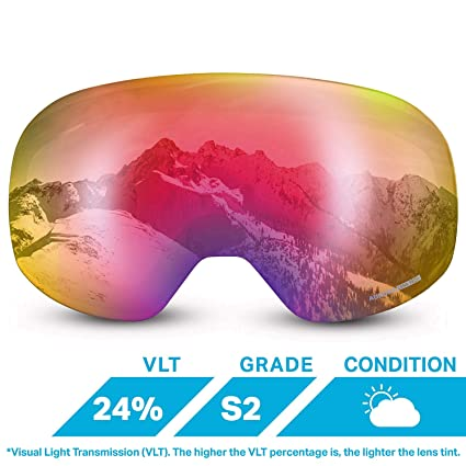 59b796cca63 Amazon.com  WildHorn Outfitters Roca Extra Replacement Frameless Snow  Goggle Lens  Sports   Outdoors