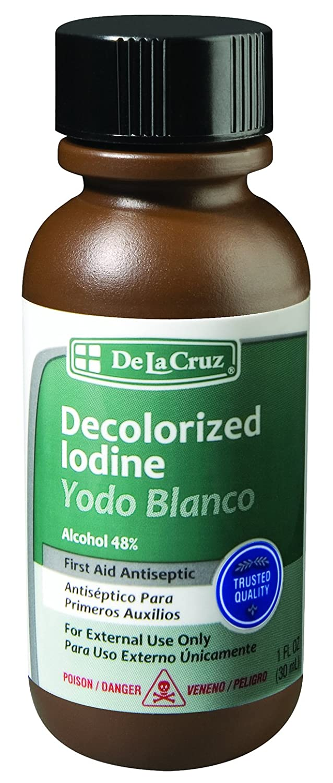 Amazon.com: De La Cruz Decolorized Iodine First Aid Antiseptic, Made ...