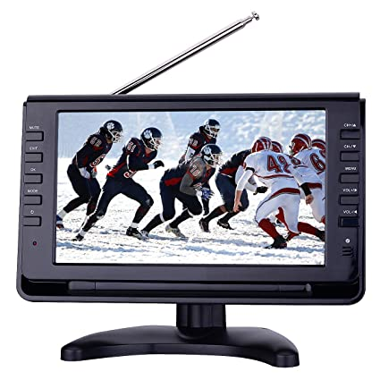 """SD Slot /& AV In Milanix 7/"""" Portable Widescreen LCD TV w// Digital TV Tuner /& USB"""