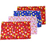 First Kids Step Baby One Side Cloth Plastic Sheet (Multicolor, Pack of 4)
