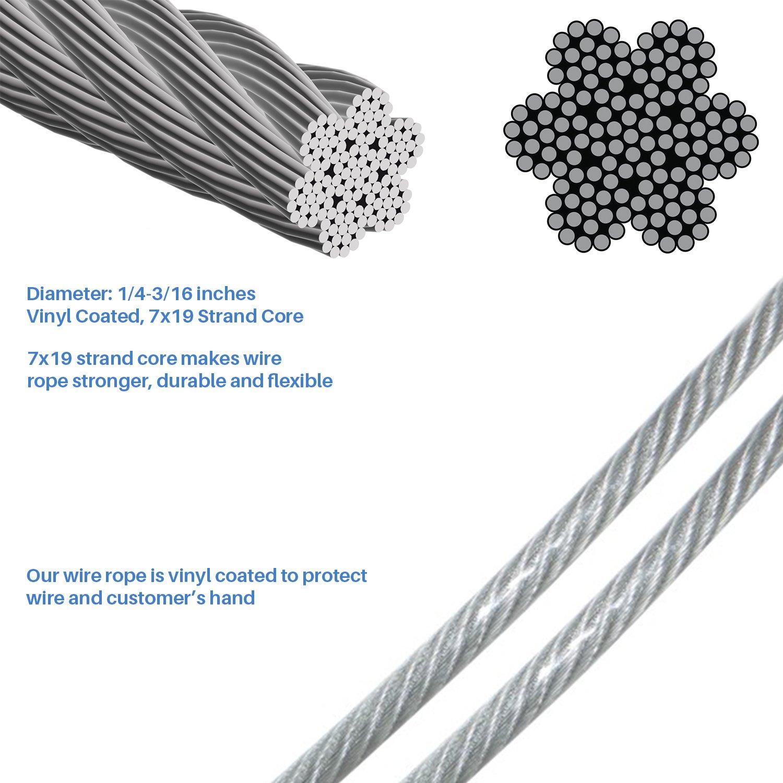 Amazon.com : E&K Sunrise Shade Sail Hardware Kit, 25-Feet Wire Rope ...