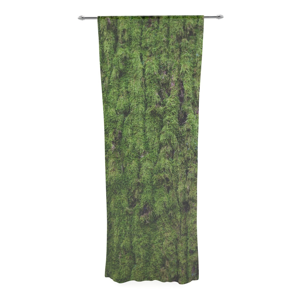 Kess InHouse Susan Sanders Emerald Moss Green Nature Decorative Set 30 x 84 Sheer Curtains